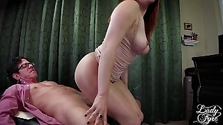 Big muscle male boss banged hard on femdom tit cunt - Brazzers porno