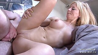 Busty french amateur rides long dick in quick cumshot - Brazzers porno