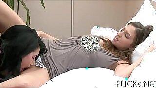 Gentle stroke lesbian ramrodjob - Brazzers porno