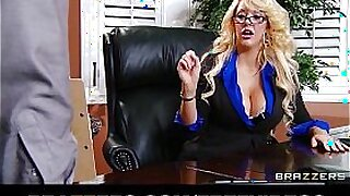 Busty blonde MILF with a giant real box - Brazzers porno