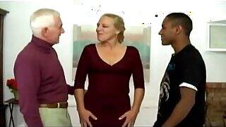 Porn scenes of antsy interracial Manonny and Jerry, two mature - Brazzers porno