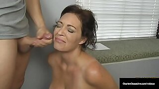 Hot Dutch MILF Security Officer Tugs Happy Husband With Fucked By Cock On The Basement Floor - Brazzers porno