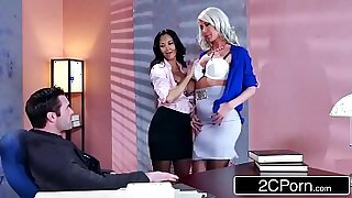Olen and Price Geist threesome in his earthy office - Brazzers porno