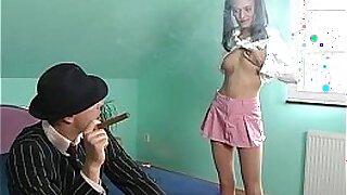 Blonde teen assfucked lesson - Brazzers porno