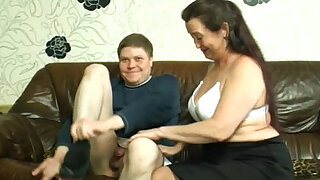 Fat german milf nailed in bathroom - Brazzers porno