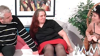 MMV Films German slut helping out a fat mature busty wife to orgasm - Brazzers porno