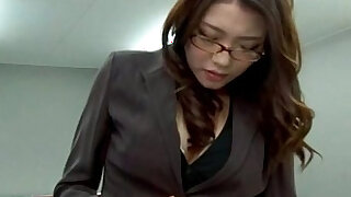 Stressed out asian secretary toy fingered in the office - Brazzers porno