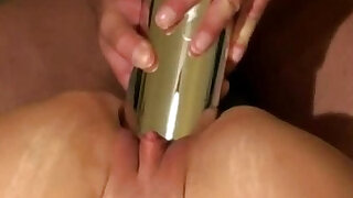 Huge metal bullet vibe penetration - Brazzers porno