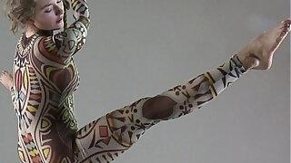 Anka the nudist showing her talent - Brazzers porno