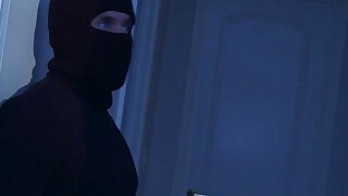 Housewife assfucked by a midnight burglar - Brazzers porno
