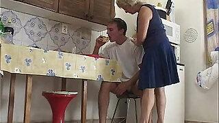 Blonde Granny Morning Cock Breakfast - Brazzers porno