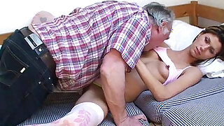 Old man and sleeping beauty - Brazzers porno