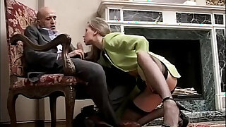 Classy and sexy busty girl in high heels and stockings sucking a cock - Brazzers porno