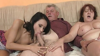 Old parents fuck her as he leaves - Brazzers porno