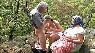 Voyeuristic Blonde milf With Old Couple - Brazzers porno