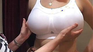 bra fitter grope big boobs office girl in a bra shop - Brazzers porno