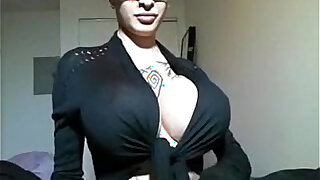 Huge tits slut office girl sucks and fucks with two sexy glasses teases - Brazzers porno
