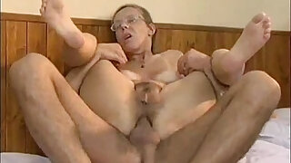 Real old granny playing cowgirl - Brazzers porno