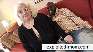 Granny feeds black cock - Brazzers porno