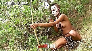 girl fucked from behind by a black dude in the wilds of cum hole - Brazzers porno