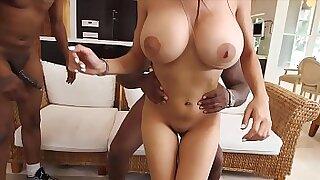 Busty ebony Anita Noir sucks off a monster ball - Brazzers porno